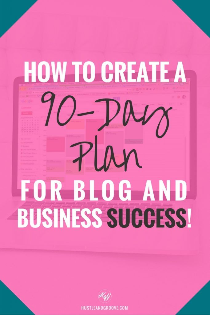 How to Use a 90-Day Plan to Explode Your Productivity in your blog or biz. Includes free Trello template. Click through to learn more. http://www.hustleandgroove.com/the-90-day-plan