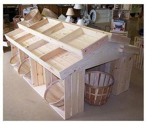 Wooden Crate Floor Display, Wood Crates, Wood Display, Produce Displays, Craft Displays by krista