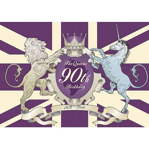 The Queen's 90th Birthday Poster - A3. Queen's 90th Birthday Party, British Street Party ideas, Union Jack, red, white and blue decorations, food, drink, tableware