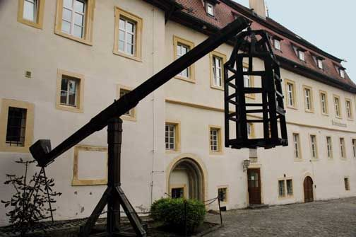 Rothenburg ob der Tauber - Criminal Museum shows Iron Maiden, neck violins and Chastity belts