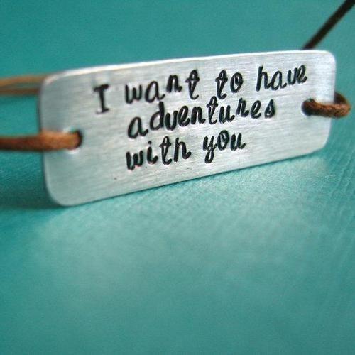 braceletAdventure Awaits, Cotton, Hands Stamps, Good Quotes, Jewelry, Quotes Bracelets, Cords, Friendship Bracelets, Sliding Knots
