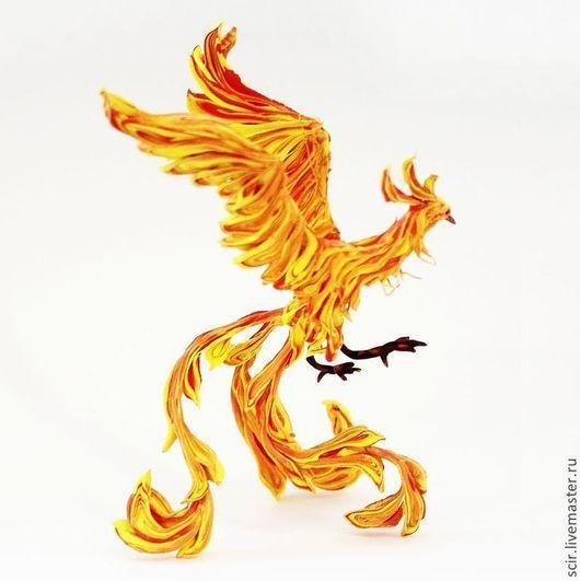 """Статуэтки ручной работы. Ярмарка Мастеров - ручная работа. Купить Фигурка """"Жар птица"""" (жарптица, птица феникс). Handmade."""