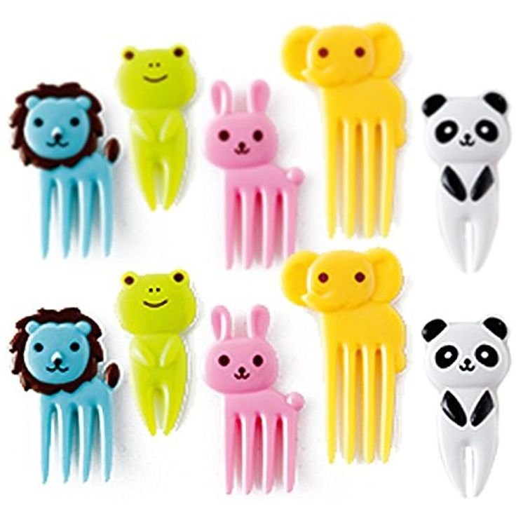 CuteZCute Bento Decoration Box, Animals Food Picks and Forks         ** Check out this great product. (This is an affiliate link) #KitchenDining