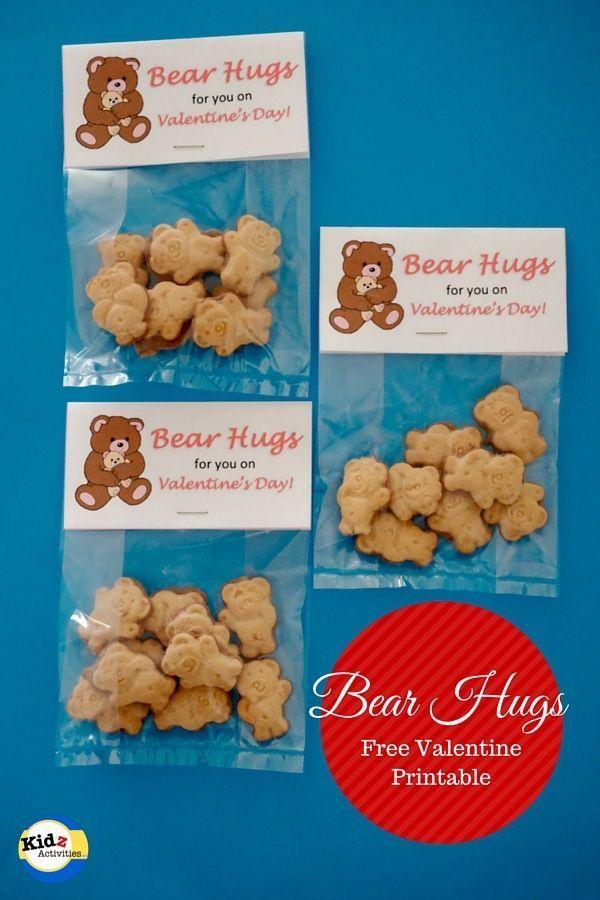 Bear Hugs Valentine Printable - Kidz Activities