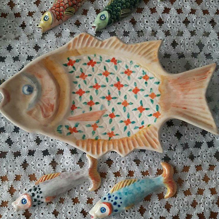 Çini çalışmalarım sevimli balıklarım handmade