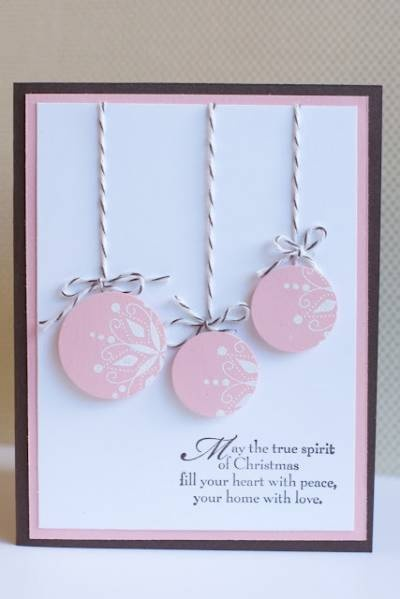 Great use of SU snowflakes punch. Pink and white and black theme.