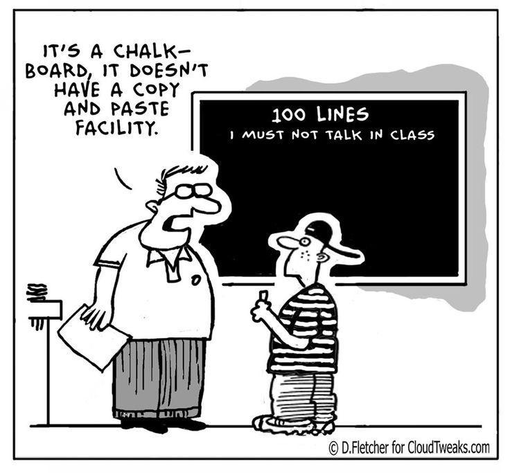 No copy and paste! How sad! | @webozy | #webozy #chalkboard #techhumor