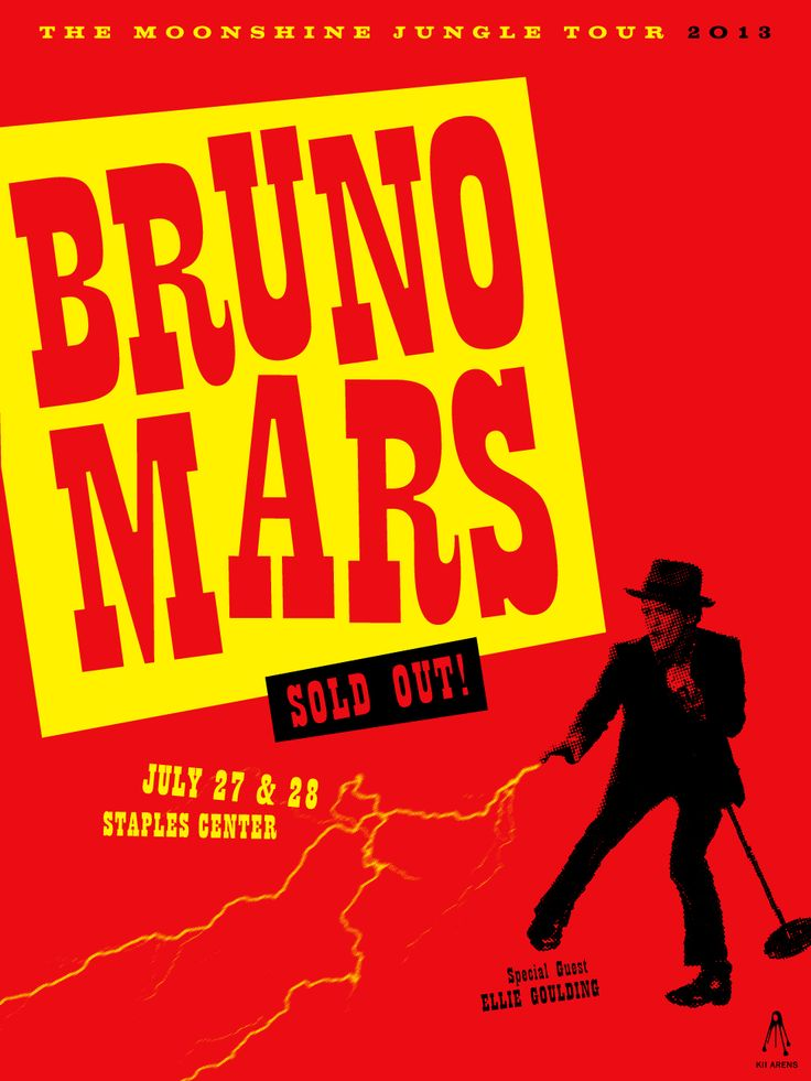 posters_Bruno Mars Concert Poster. Created by Kii Arens. | Concert Posters | Pinterest ...