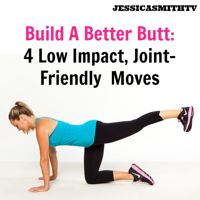 Build A Better Butt Without Squats or Lunges: 4 Low Impact, Joint Friendly Moves - Jessica Smith TV Fitness YouTube Workout Videos