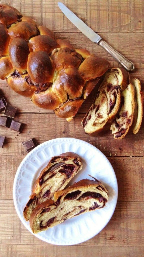 chocolate cherry challah braided bread