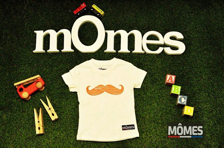 @Mômes Store 's new design. Big moustache with French words! #cute #kids #organic #organickids #tshirt #trendy #cool #unique #french #words#bonjour#francais#moustache #orange #hipster #fashionable #fashion #momes #australian #designer #unique