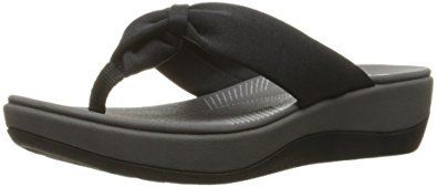 Clarks Women's Arla Glison Flip Flop sandal with a wedge are super lightweight and come in many colors and prints for all-day comfort and style.  These flip flop sandals features an EVA footbed with cushion soft comfort technology which will provide you with support and cushion each step you take in them.