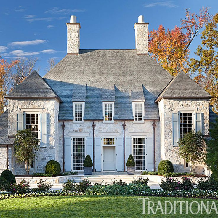Stone House with Lovely, Light Palette