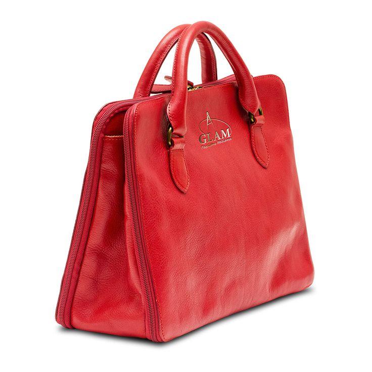 Shoulder handbag Red