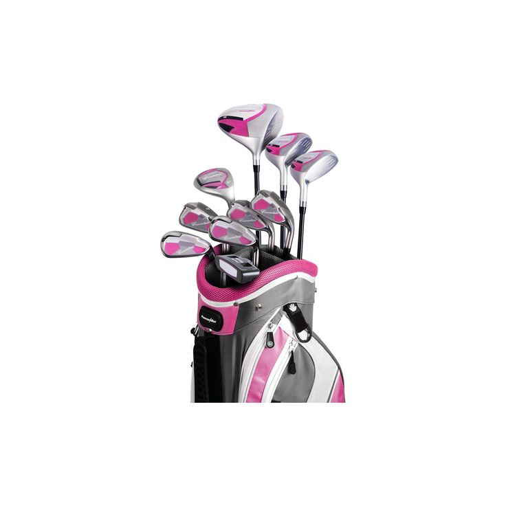 Powerbilt Countess Package Ladies' Golf Set Right Hand - Magenta, Pink