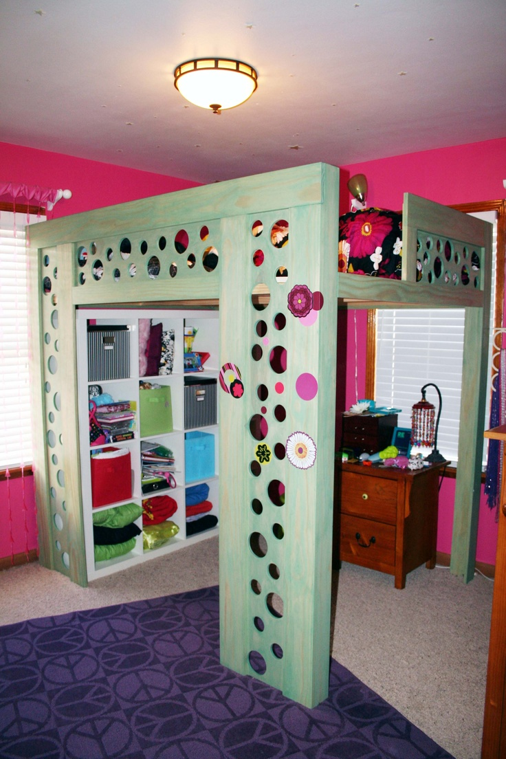 Coolest loft bed ever ikea storage underneath is awesome to keep room nicely organized and - Ikea bunk bed room ideas ...