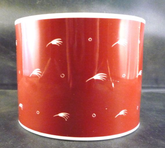 Susie Cooper Small Bowl Seed Head Pattern Dark Red Bone China Collectable Mid Century Vintage Retro Table Decor Gift Very Good Condition