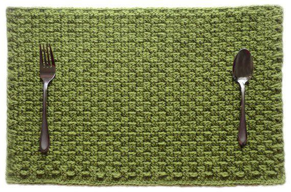 Basketweave Placemat Pdf Crochet Pattern Instant Download Etsy In 2021 Crochet Placemat Patterns Placemats Patterns Crochet Placemats
