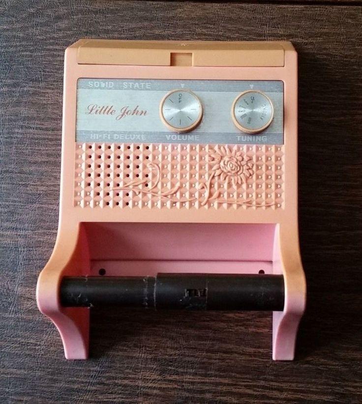 Little John Solid State Hi Fi Deluxe Radio Toilet Paper
