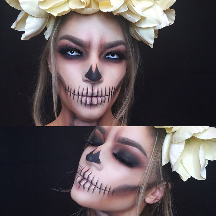 Smoked out skull makeup