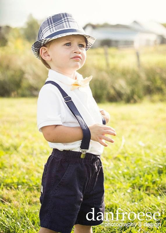 Boys Navy Suspenders Blue Toddler Baby Child Braces By