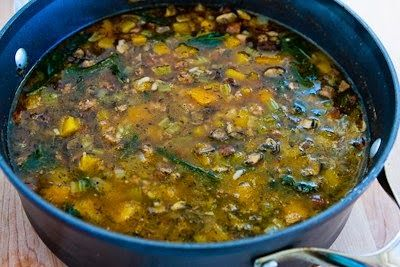 Ground Turkey Soup Recipe with Rice, Kale, Mushrooms, and Butternut S ...