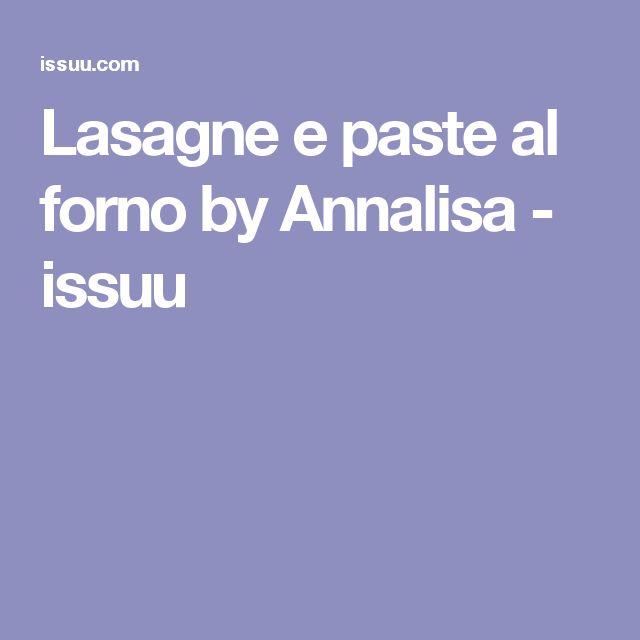 Lasagne e paste al forno by Annalisa - issuu