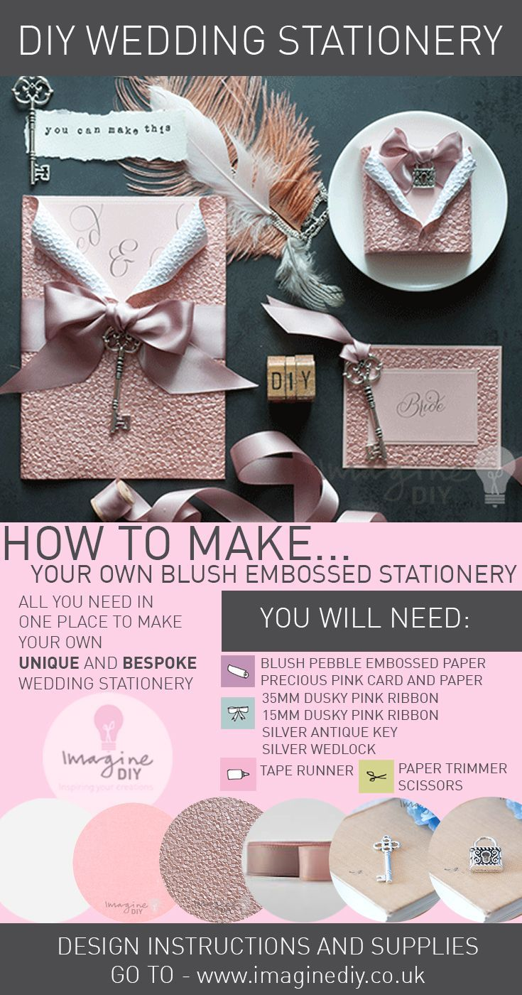 How to make DIY Luxury Blush Embossed Stationery.  Design guide and products available from Imagine DIY.  #diywedding #diyweddingideas #diyweddingstationery #diyweddinginvitation #diyweddinginvitations #diyweddinginvite #diyweddinginvites #weddingideas #pinkwedding #pinkweddingidea #pinkweddinginvitations #Imaginediy #blushwedding #luxuryinvitations #blushinvitations