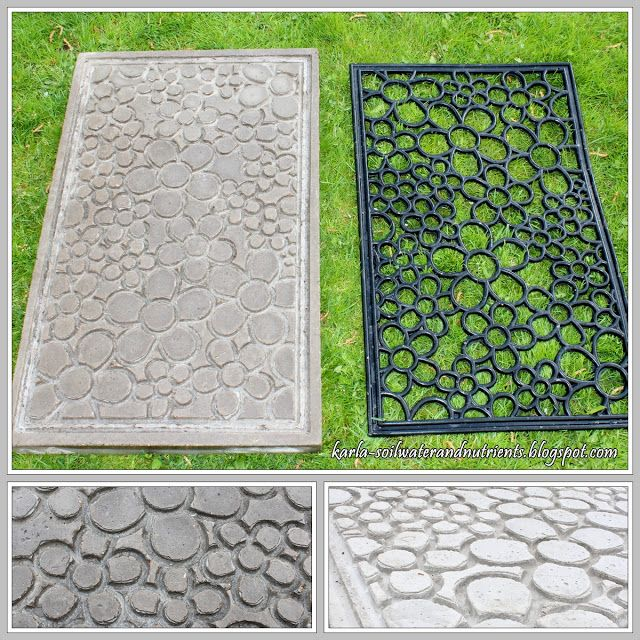 Oh to find a mat with a similar design to use as a mold!  KARLA-soil, water and nutrients: Betong matta