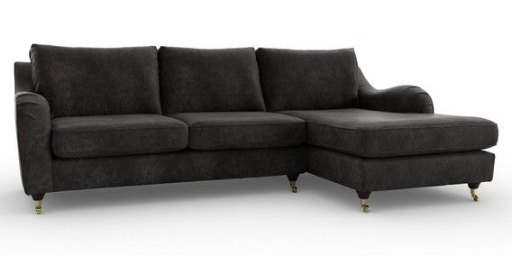 Buy Hepburn Corner Chaise Right Hand 4 Seats Lucca Faux Leather Charcoal Castor Dark From The Next Uk Onl Sofa Furniture Sofas And Chairs Sectional Couch
