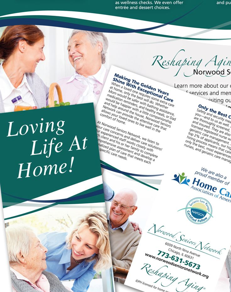 Targeted Brochure Design For Norwood Seniors Network Homecare Marketing