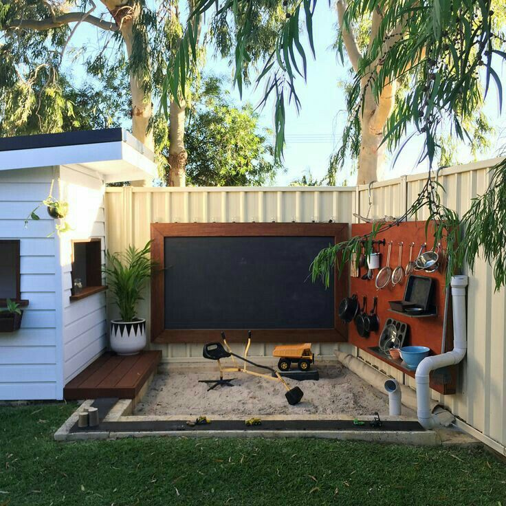Awesome Sandpit With Kitchen Accessories And Digger And Seat For