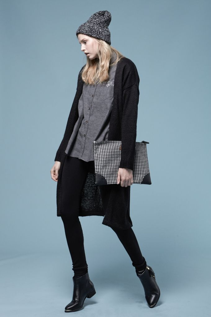 Thick cardigan with soft texture Maxi cardigan; calf length long Simple straight fit