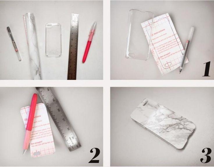 stilvolle Handyhülle mit weiß-grauem Marmor-Effekt - Anleitung