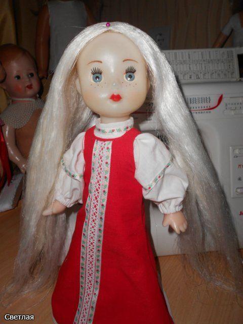 Как родилась Алёнушка и где братец Иванушка!? Реставрация кукол СССР на резиночках. Или альтернатива перепрошивки. / Прошивка волос кукле, восстановление парика / Бэйбики. Куклы фото. Одежда для кукол