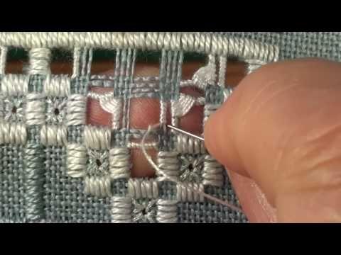 14 Mystic Christmas Sampler - Hardanger - Needleweaving Lower Half - YouTube