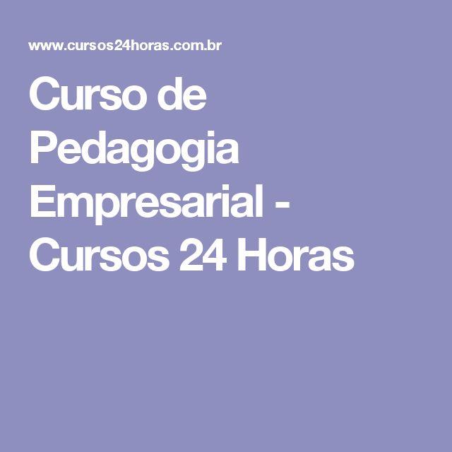 Curso de Pedagogia Empresarial - Cursos 24 Horas