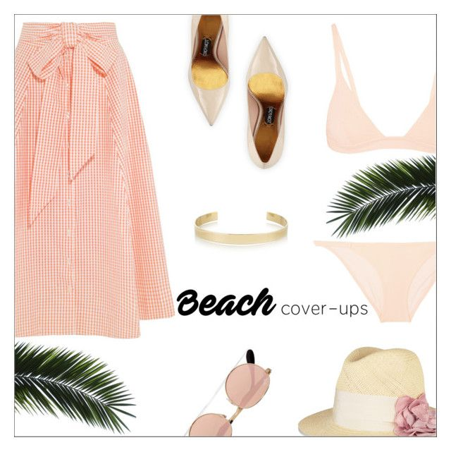 """The Big Cover-Up"" by danielle-487 ❤ liked on Polyvore featuring Solid & Striped, Lisa Marie Fernandez, Lanvin, Tom Ford, Ray-Ban, Jennifer Fisher and coverups"