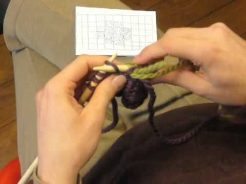 ▶ Cours de tricot 12 - le jacquard - YouTube