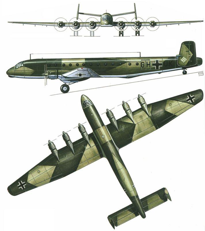 Силуэт Junkers Ju-390 V1