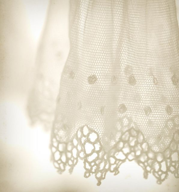 white lace . . .