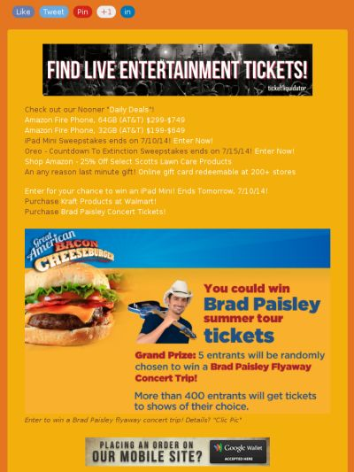 Enter to win a Brad Paisley flyaway concert trip in this Token Traders' Mewsletter!