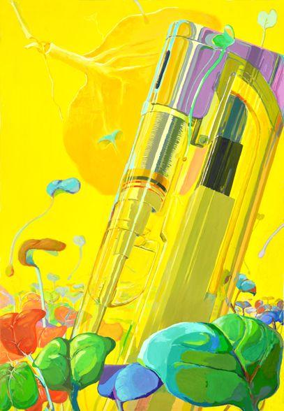 本科のS.Aさんのモチーフ構成です、黄色の印象鮮やかな気持ちいい画面になりました! 「綺麗が一番!」です!