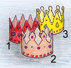 Krone für Kindergeburtstag - benötigt nur 1 DIN-A4 Blatt