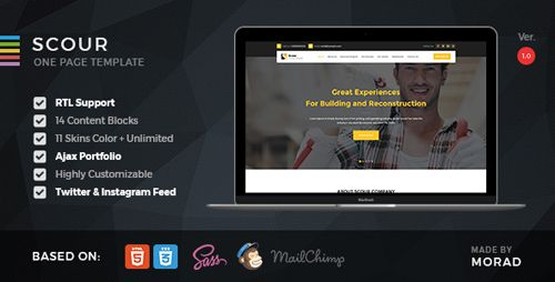 Download ThemeForest  Scour v1.0  Construction HTML Page Template Free