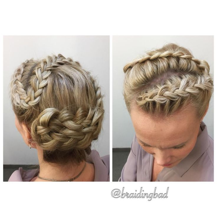 Lovely #updo created with one single winding #dutchbraid  I love how this turned out  . . #braidinghair #braidideas #instabraids…