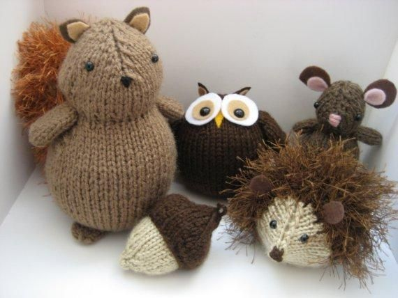 shop fashion accessories Woodland Animals Knit Pattern Set   available in Little Knitted Creatures