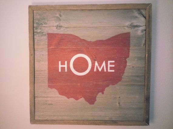 126 best columbus on etsymade here images on pinterest columbus ohio state sign on barn wood malvernweather Choice Image
