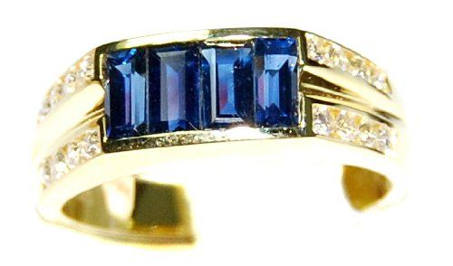 Diamond For Men Blue Sapphire Ring Natural 18K Yellow Gold [RQ0022] BKGjewelry http://www.amazon.com/dp/B00CDO0WCM/ref=cm_sw_r_pi_dp_egBpwb0GY0M5S