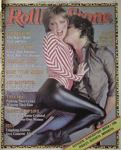 Bitchin' Rolling Stone Cover with Pat Benatar, one of Rock 'n' Roll Marathon's first headliners in 1998.